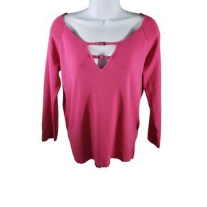 "cable & guage Pink 3/4"" Sleeves Blouse in Size M"